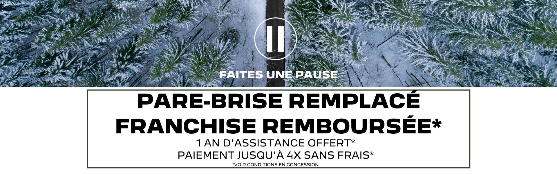 Pare-brise remplacé-franchise remboursée-31102021